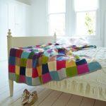 Фото 91: Вязаное покрывало пэчворк