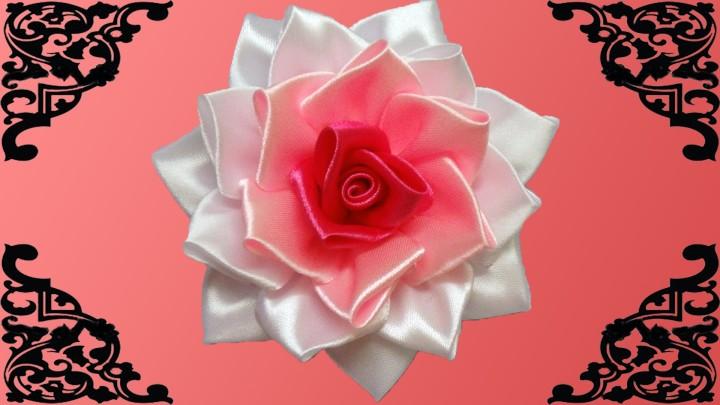 Роза своими руками из атласной ленты