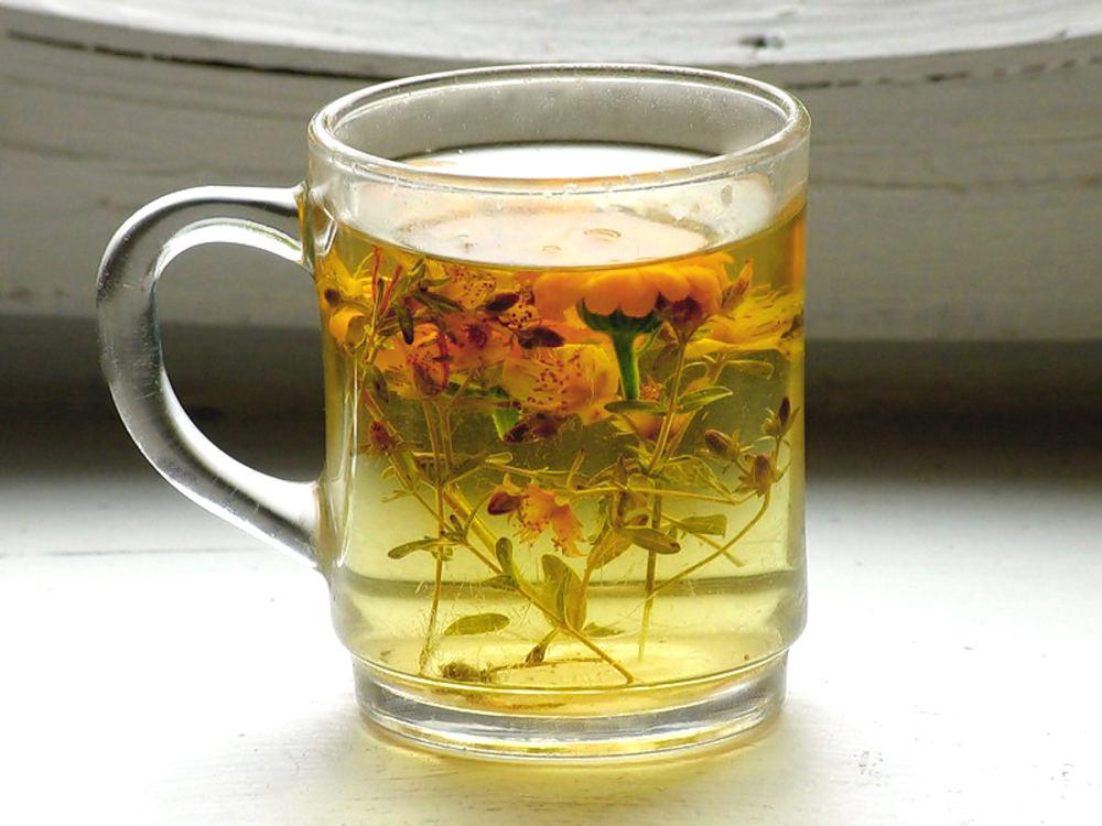 Чай с бархатцами
