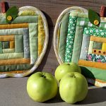 Фото 98: Прихватки пэчворк яблоки