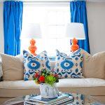 Фото 60: Цветовые акценты с помощью ярких штор