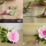 Фото 61: Роза из гофрированной бумаги