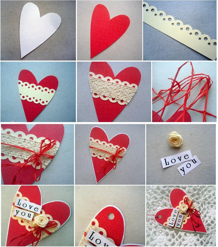 Валентинки из цветной бумаги как их делать