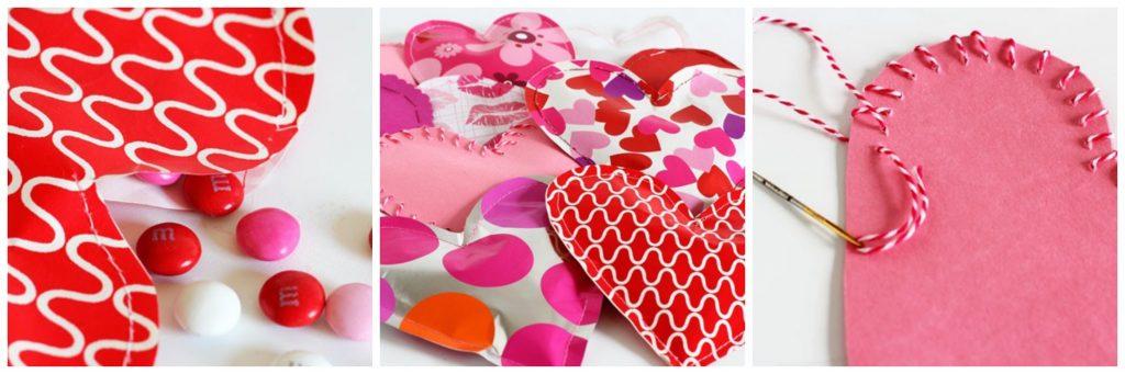 Валентинки с упаковкой под конфеты