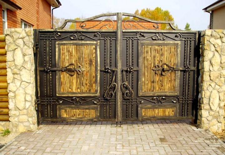 Преимущества и особенности кованых ворот (2)