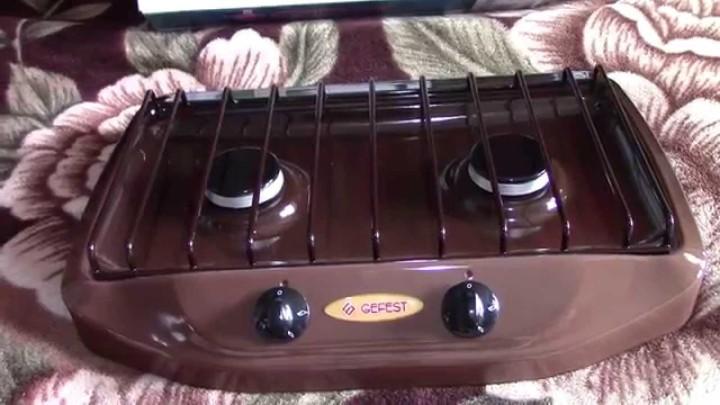 Газовая плита Гефест с двумя конфорками