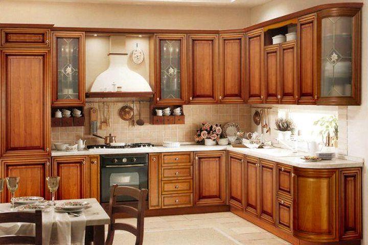 Удобное расположение кухонной мебели