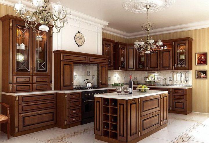 Островная планировка кухонной мебели