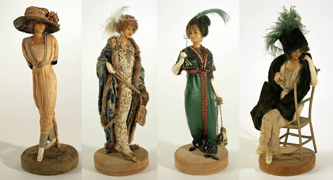 Французские куклы 1909-1916 годов в модных нарядах