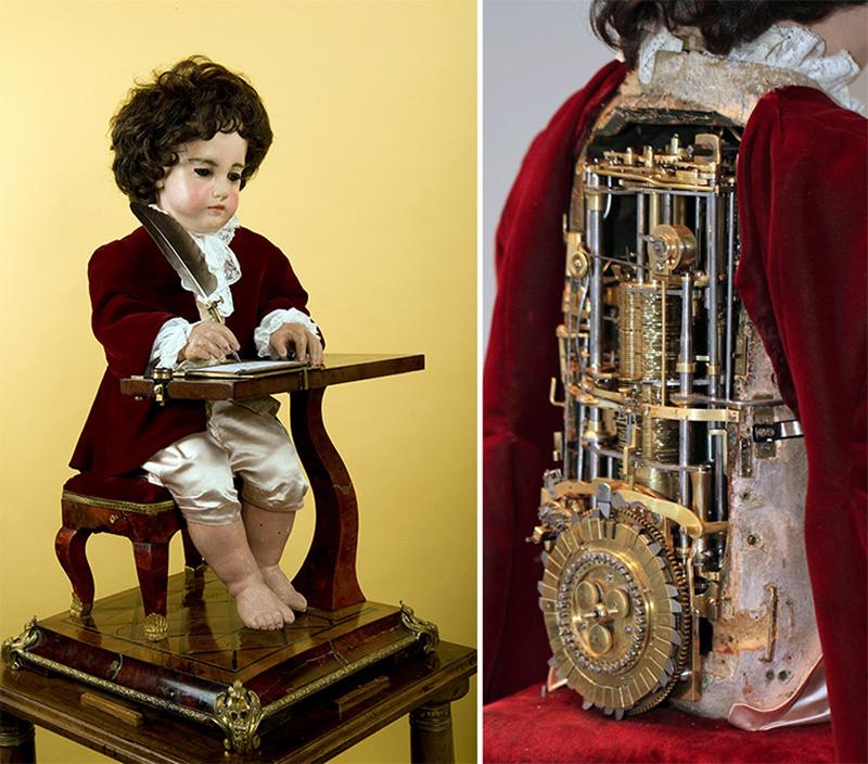 Робот «пишущий мальчик» Пьера Жаке-Дро.