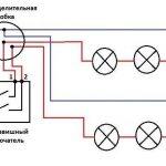 Фото 45: Схема подключения точечных светильников к выключателю