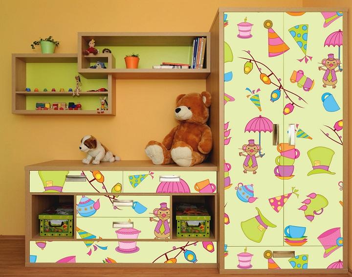 Самоклеящаяся пленка для детской мебели
