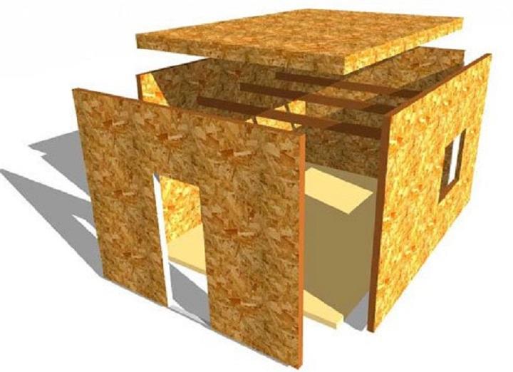 Сборка дома из сэндвич панелей похожа на конструктор