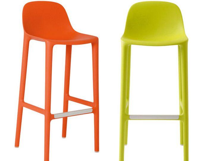 Пластиковый барный стул