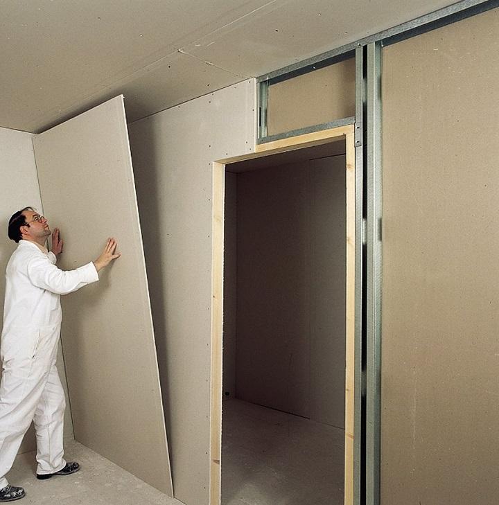 Толщина перегородки из ГКЛ в зависимости от размеров дверной коробки
