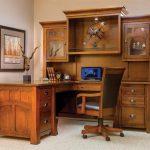 Фото 22: Bridgefort угловой письменный стол из массива