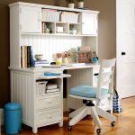 Фото 29: Белый письменный стол для школьника
