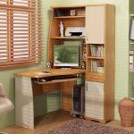 Фото 30: Угловой письменный стол с боковым шкафом