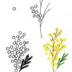 Фото 76: Рисование мимозы