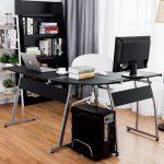 Фото 67: Современный угловой стол в кабинете