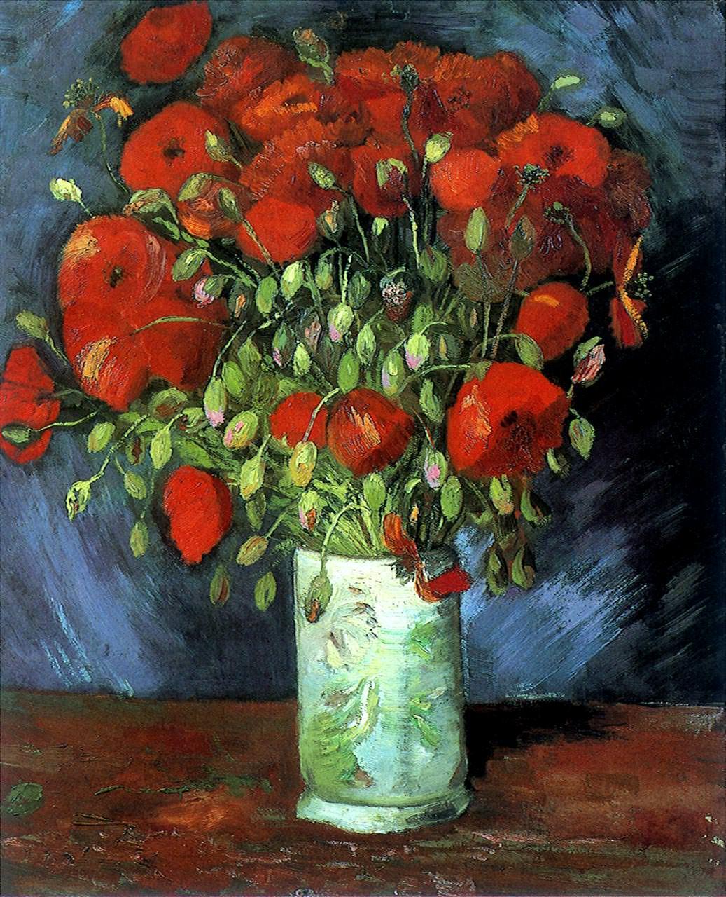 Ван Гог «Ваза с красными маками»