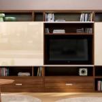 Фото 32: Композиция для гостиной с панелью для ТВ и барным модулем