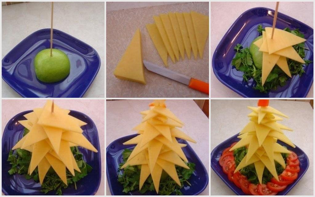 Елочка из сыра своими руками на Новогодний стол
