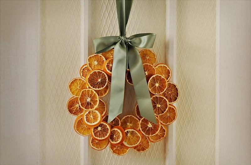 Венок из апельсиновых долек