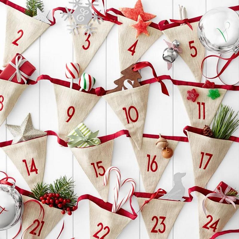 Рождественский календарь с подарочками