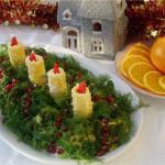 Фото 13: Украшение салата к Новому Году