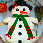 Фото 24: Новогодний салат снеговик