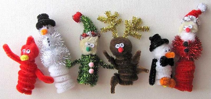 Новогодние игрушки из синельной проволоки