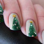 Фото 85: Елочки на ногтях