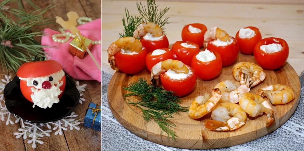 Фаршированные томаты на Новый Год