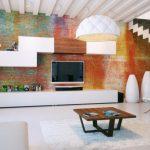 Фото 76: Градиентная стена в современном интерьере гостиной