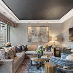 Фото 53: Потолок металлического цвета в современной гостиной