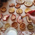 Фото 28: Изготовление елочных игрушек из фруктов