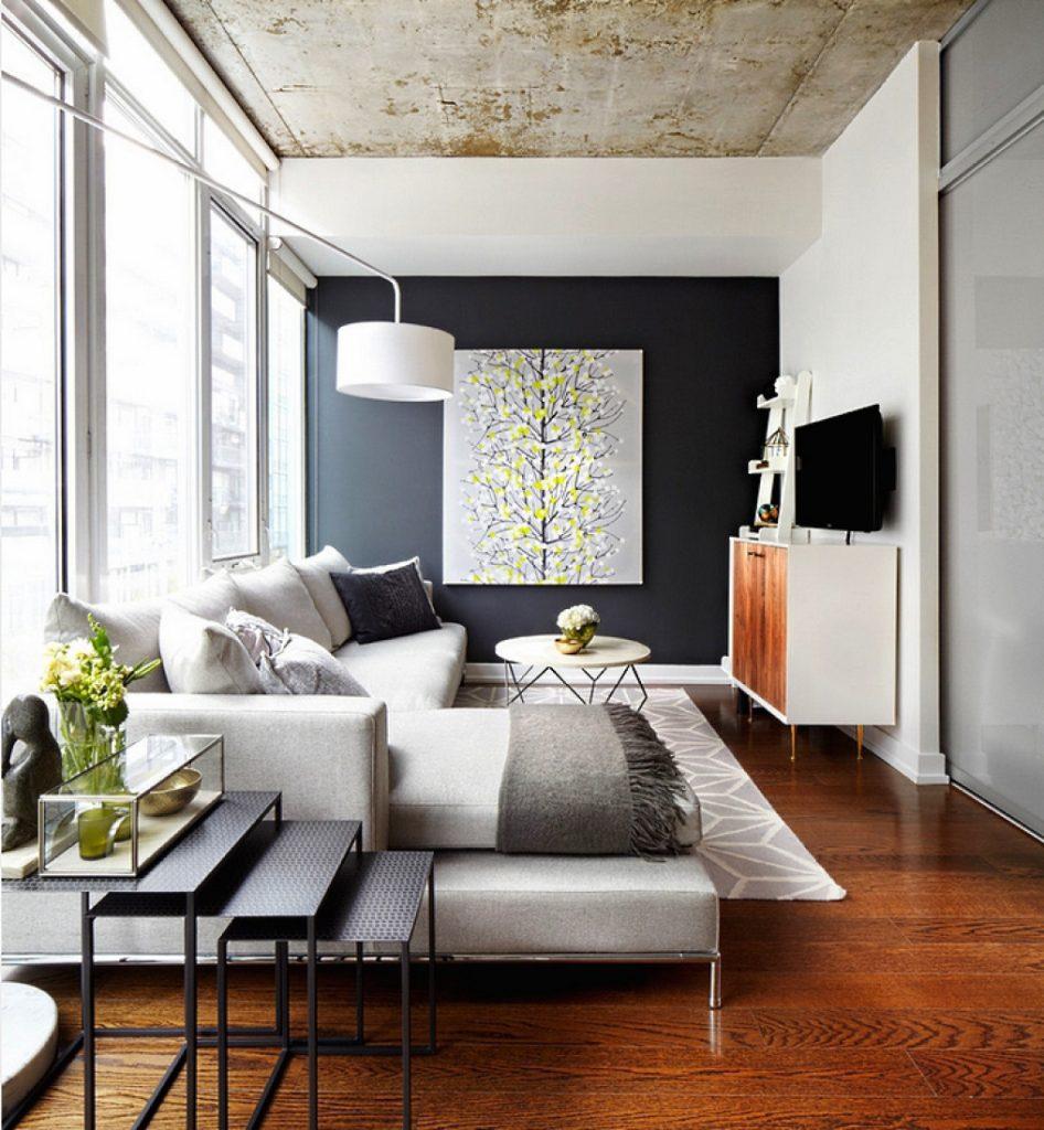 Оформление стен в гостиной фото современные идеи