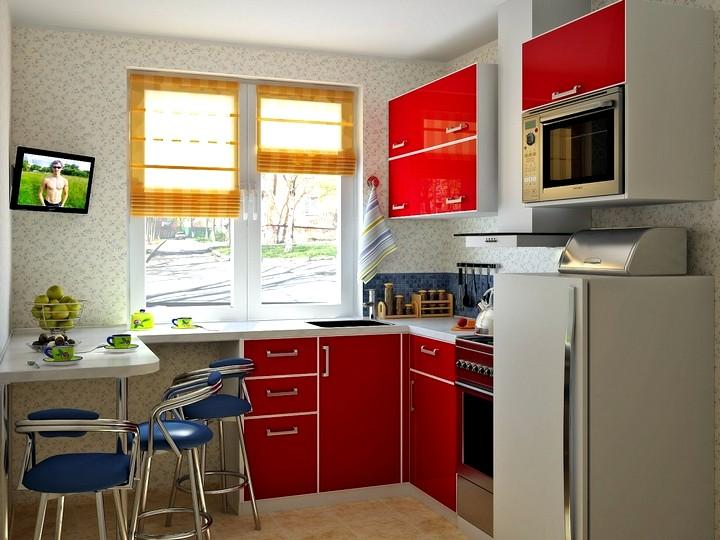 Дизайн кухни в хрущевке 2