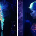Фото 84: Неоновые волосы ультрафиолет