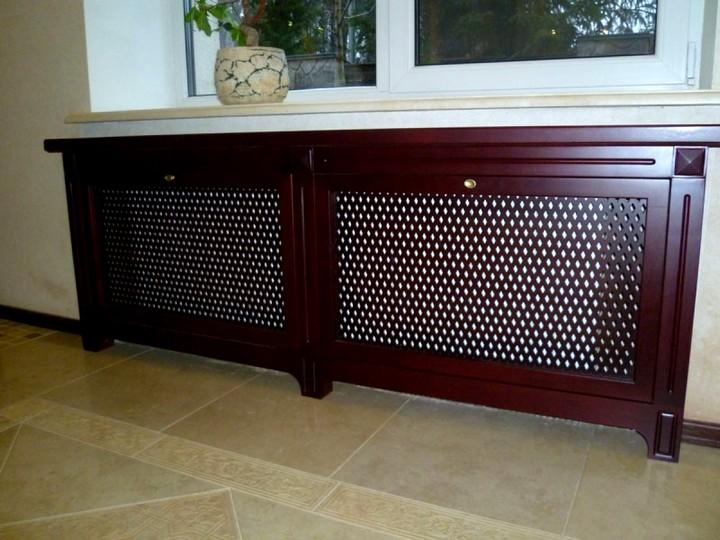 деревянные экраны для батареи отопления 2