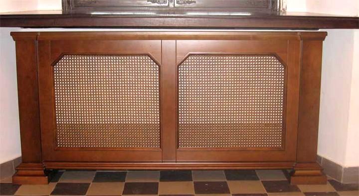 деревянные экраны для батареи отопления
