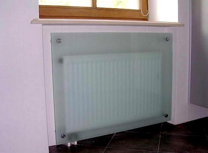 стеклянный экран для батареи отопления