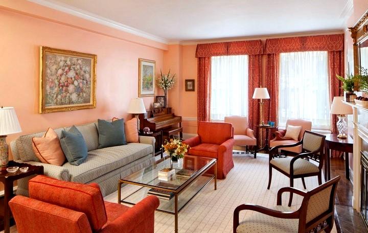терракотовый цвет при оформлении комнаты (2)