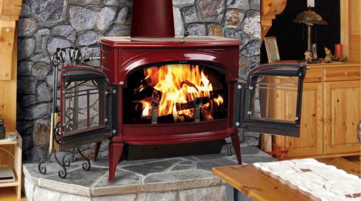 Печь-камин длительного горения для дачи
