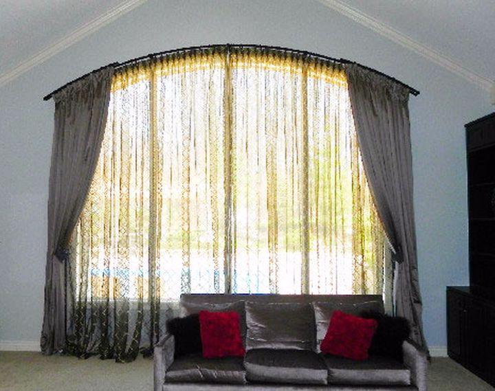Карниз для нестандартной формы окна