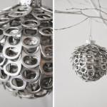 Фото 20: Елочный шар из баночных открывашек