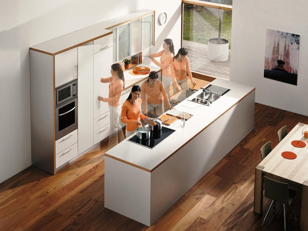 Планирование мебели и техники на кухне