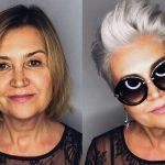 Фото 82: Стильная стрижка для пожилых