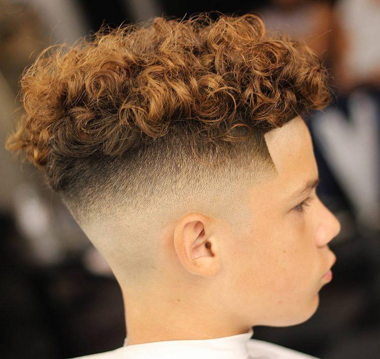 Стрижка андеркат на кудрявые волосы